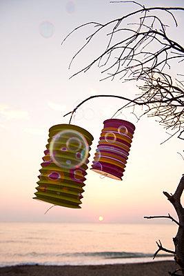 Strandparty im Sonnenuntergang - p533m1194902 von Böhm Monika
