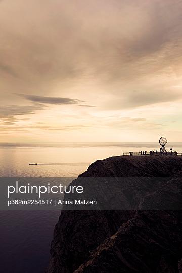 Midnight sun at North Cape - p382m2254517 by Anna Matzen