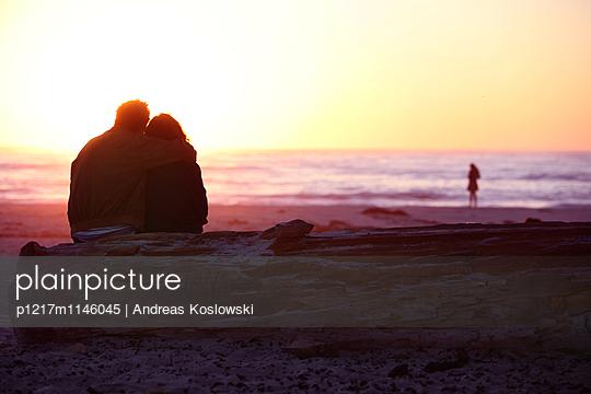Paar, Asilomar Beach - p1217m1146045 von Andreas Koslowski