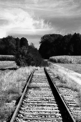 Eisenbahnschienen    - p450m1172658 von Hanka Steidle