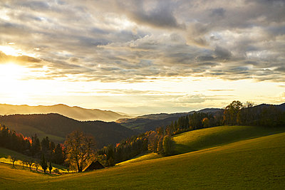 Black Forest view into the Rhine valley in autumn - p1312m2161012 by Axel Killian
