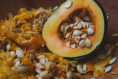 Squash and Seeds - p1262m1087244 by Maryanne Gobble
