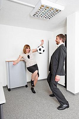 Having a sporty break - p2380402 by Anja Bäcker