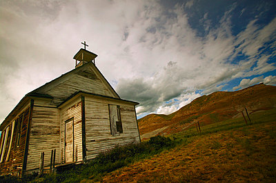 An old country church - p4421669f by Design Pics