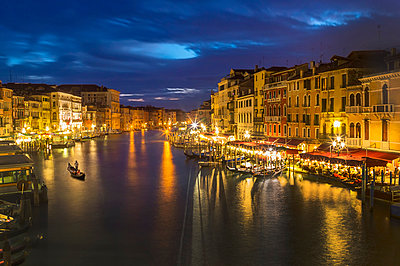 Italy, Venice, Canale Grande at night - p300m981822f by EJW