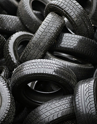 Car tyres at a dump Sweden - p5280298f by Jenny Gaulitz