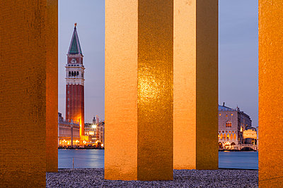"""""""Isola di San Giorgio Maggiore; The Sky Over Nine Columns by Heinz Mack, Venice, Venetia, Italy"""" - p651m2033746 by Peter Fischer"""
