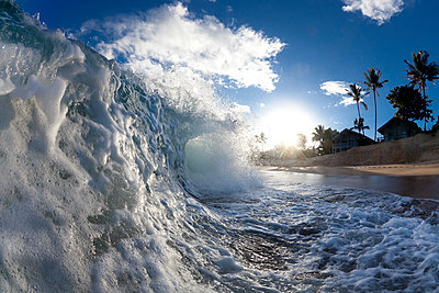 A wave breaking to shore. - p1424m1500964 by Sean Davey