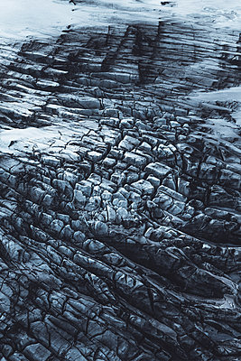 Aerial view of a Glacier in Iceland - p1634m2210379 by Dani Guindo