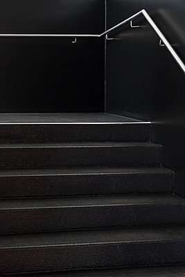 Staircase in black - p335m1152304 by Andreas Körner