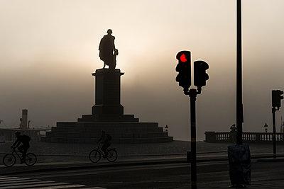 Sweden, Stockholm, Nybrohamnen, Statue of Gustav III - p352m1061937f by Hans Alm