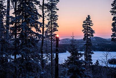 Nordic sunset in Finland  - p1455m2054153 by Ingmar Wein
