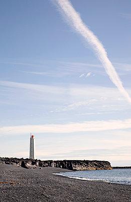 Lighthouse in Iceland - p382m1355432 by Anna Matzen