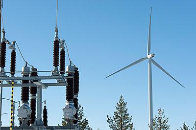 Transformer station of wind farm - p1079m1042400 by Ulrich Mertens