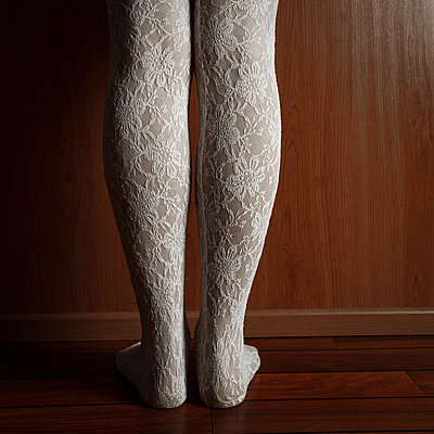 Woman with white stockings - p4130707 by Tuomas Marttila