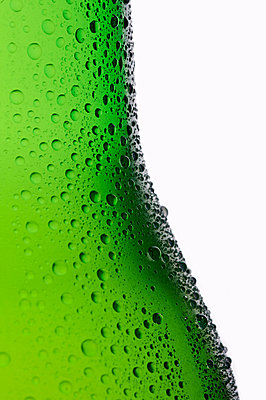 Bottle of lager, close up - p9243267f by Image Source