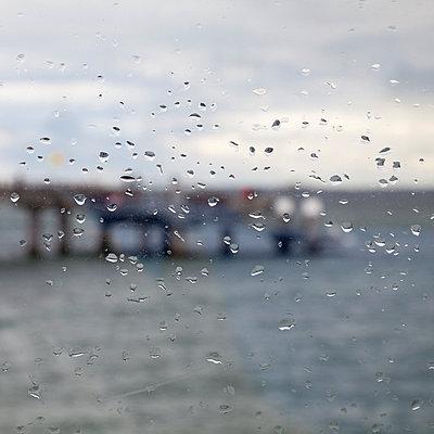 raindrops on window. pier - p300m885208f by Wilfried Wirth