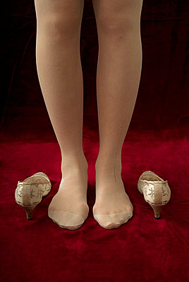 A bride with stockings - p6780015 by Christine Mathieu