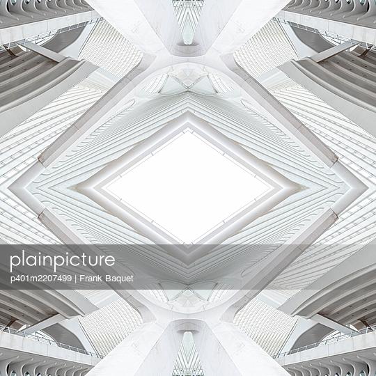 Abstract kaleidoscope pattern Liège-Guillemins station in Liège - p401m2207499 by Frank Baquet