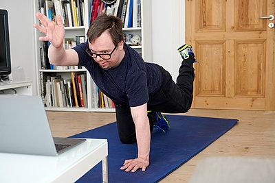 Fitness zu Hause - p1164m2177966 von Uwe Schinkel