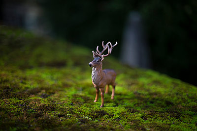 Plastic deer - p1286m1105184 by Laurent Deglicourt