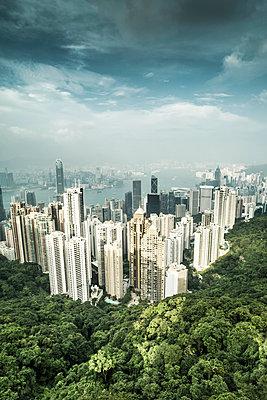 Hongkong Stadtlandschaft - p1202m1061269 von Jörg Schwalfenberg