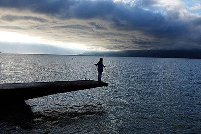 Abends am Genfer See - p1116m1217030 von Ilka Kramer