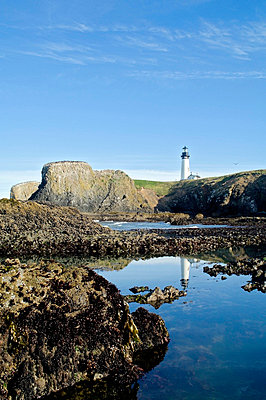 Low Tide at Yaquina Head Lighthouse; Yaquina Head Outstanding Natural Area, Newport, Oregon, USA - p4429199 by Dan Sherwood