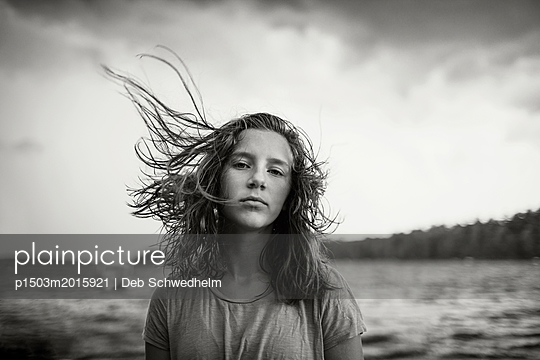Girl in the Water - p1503m2015921 by Deb Schwedhelm