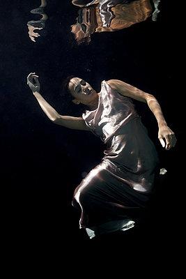 underwater ballet - p1554m2158984 by Tina Gutierrez