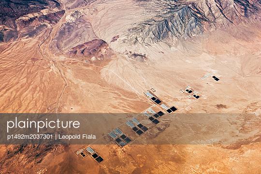 Militäranlage Wüste Luftaufnahme - p1492m2037301 von Leopold Fiala
