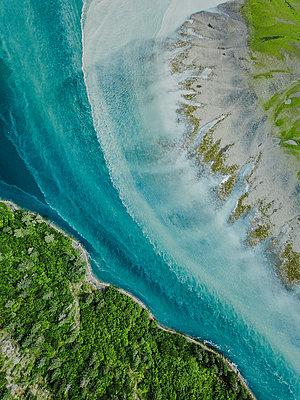 Alaska, Areal eines Gletscherflusses  - p1455m2204766 von Ingmar Wein