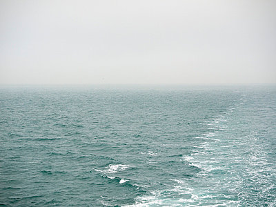 Misty seascape from ferry - p388m702058 by Andre