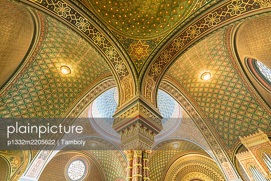 Decoration details of the Spanish synagogue in Prague - p1332m2205622 by Tamboly