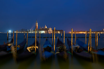 Italy, Venice, San Giorgio Maggiore as seen from San Marco at twilight - p300m1204684 by Xose Casal