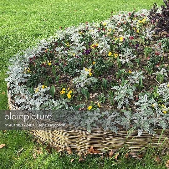 Blumenbeet, Square des Batignolles, Paris - p1401m2172401 von Jens Goldbeck