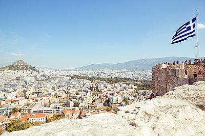 Blick auf Athen - p432m1510551 von mia takahara