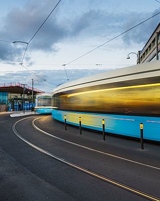 Trams in city - p312m1103951f by Mikael Svensson