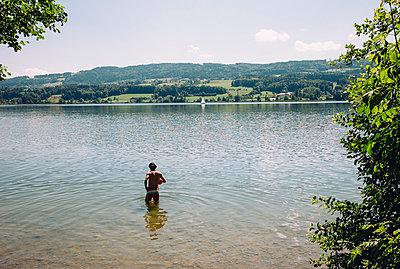Baden im Greifensee - p1085m1042858 von David Carreno Hansen