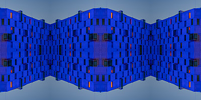 Abstract Architecture Kaleidoscope - p401m2210764 by Frank Baquet