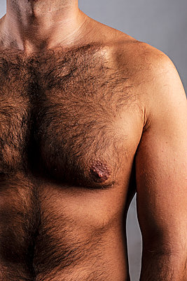Bare chested man - p975m2100174 by Hayden Verry