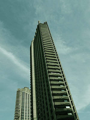 Low angle view of shakespeare tower - p1072m829308 by Neville Mountford-Hoare