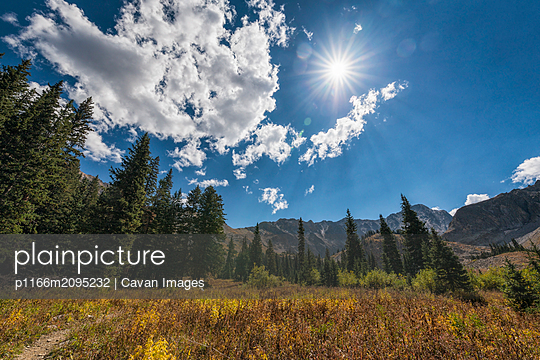 Landscape in the Maroon Bells-Snowmass Wilderness - p1166m2095232 by Cavan Images