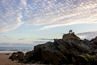 France, Brittany, On a rock by the sea - p879m2164536 by nico