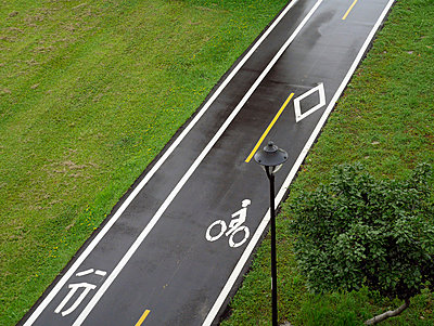 Taiwan, Taipeh, empty bicycle lane - p300m1053154f by Pascal Miller
