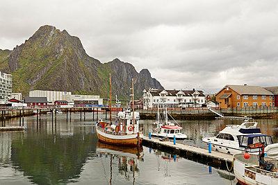 Boats in Lofoten - p1239m1123817 by Krista Keltanen