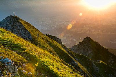 Austria, Tyrol, Nockspitze at sunrise - p300m1166314 by Markus Kapferer