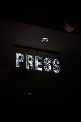 Press LED sign - p1028m2026118 by Jean Marmeisse