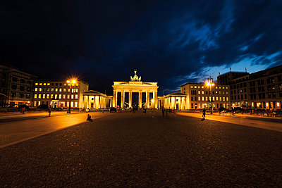 Brandenburg Gate at night - p3007386f by Dieter Heinemann