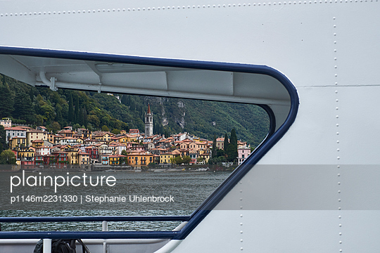 Italy, Lombardy, Lake Como,  View of Menaggio - p1146m2231330 by Stephanie Uhlenbrock